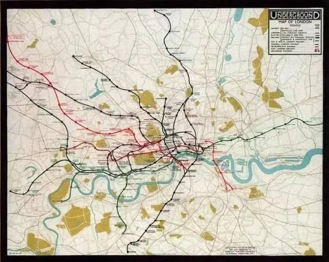 1926年之前的伦敦地铁线路图图片