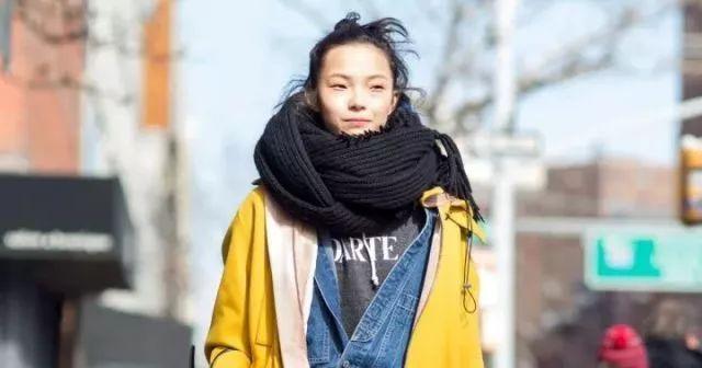 韩版女学生领巾图片大全