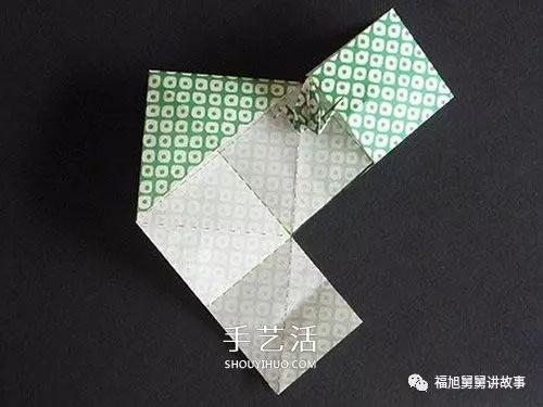 儿童手工折纸大全 连体千纸鹤