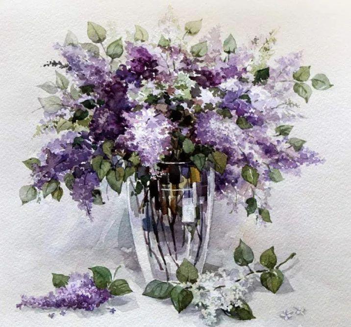 给我一支水彩笔,还你一片花团锦簇 最美花卉水彩插画