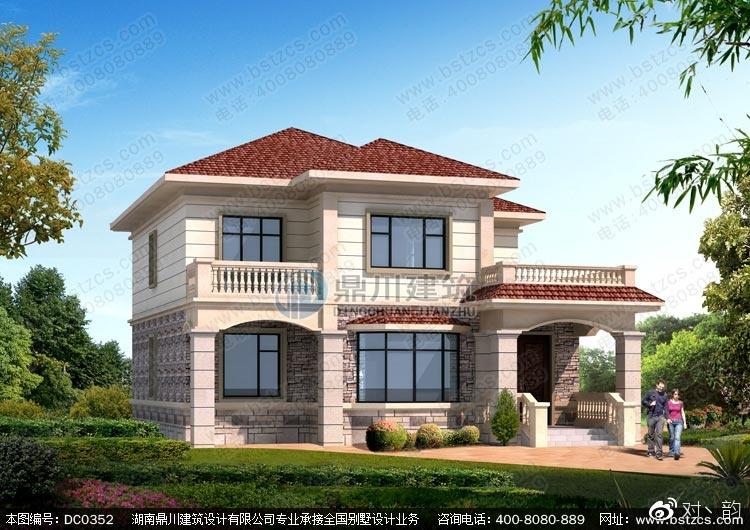 农村二层自建房设计-新农村二层带露台小别墅设计图纸