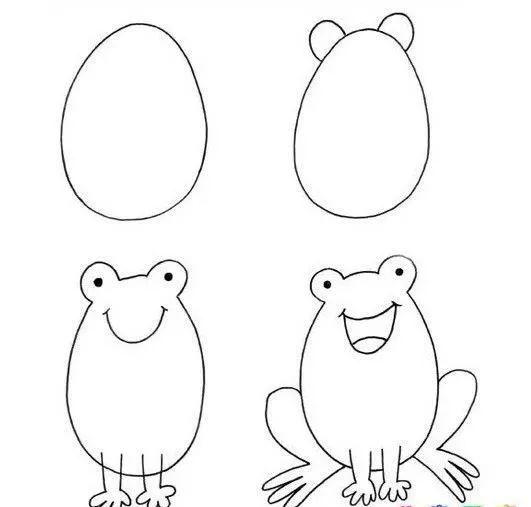 幼儿园简笔画步骤图解,动物 交通工具 师讯网推荐