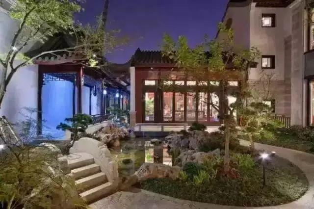 【欣赏】新中式庭院景观图片