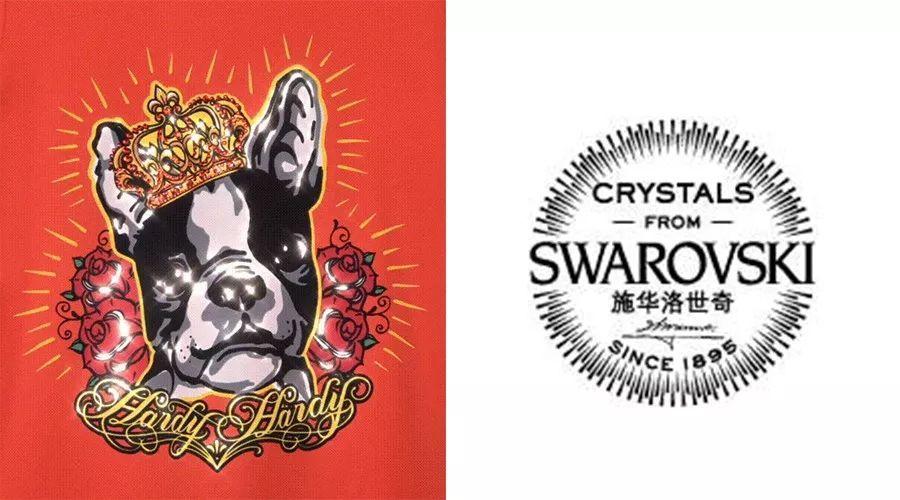 法斗犬的设计采用了品牌经典皇冠,玫瑰纹身图腾造型;刺绣精湛,针脚