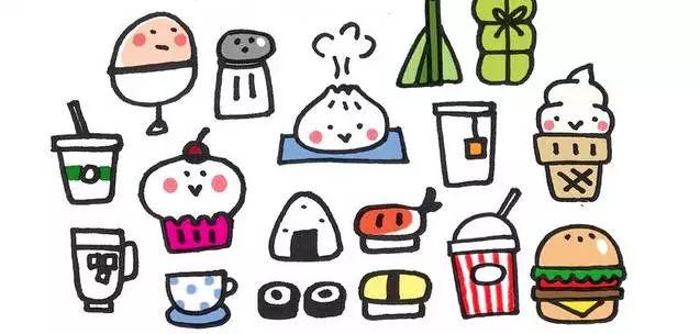 师讯网推荐——幼儿园儿童超萌食物简笔画教程,儿童画图片
