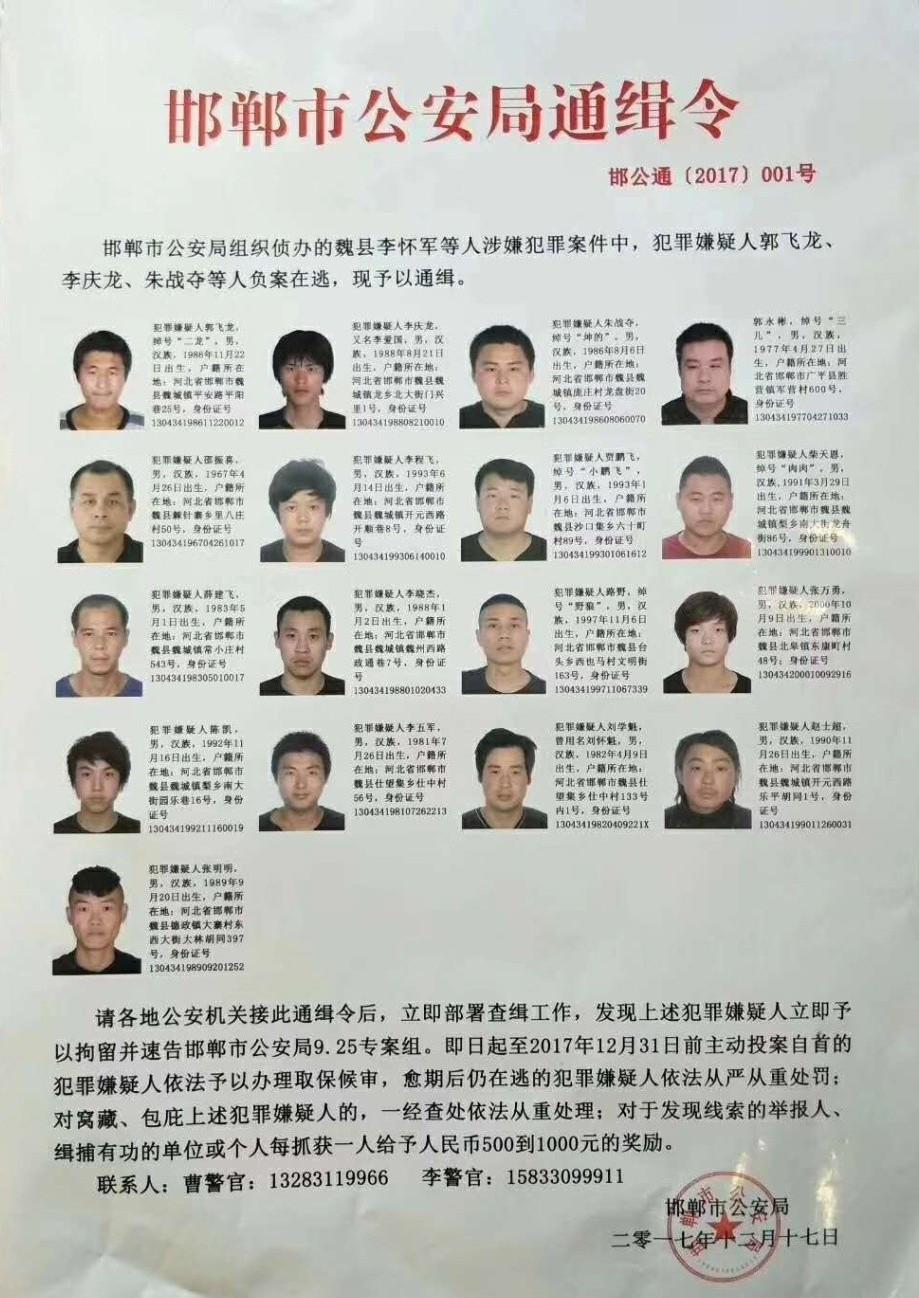 在邯郸遇到这些人,请马上报警