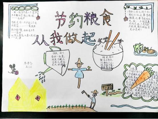 """翠峰小学开展""""节约粮食""""手抄报评比活动"""