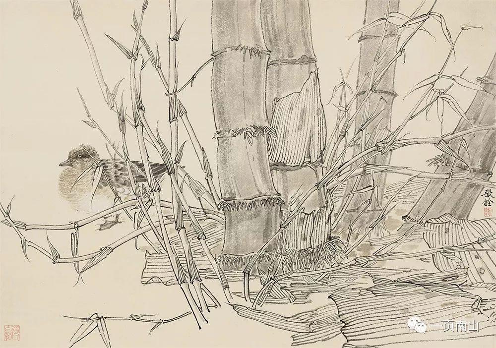 今日,一页南山特别挑选了 《白描草虫》《白描花卉蔬果》中的精彩图片