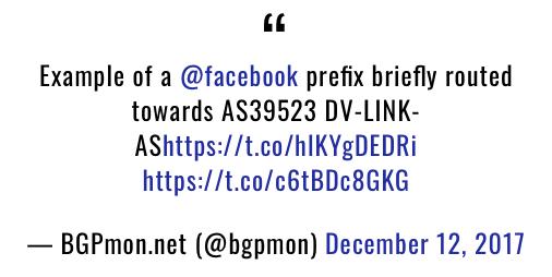 科技大佬Google、Apple、Facebook、Microsoft等遭遇BGP劫持