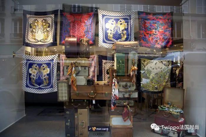 当年colette销售hermes丝巾所布置的橱窗 2010年,一向我行我素的he