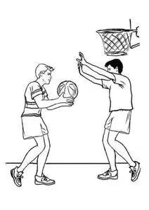 打篮球简笔画图片
