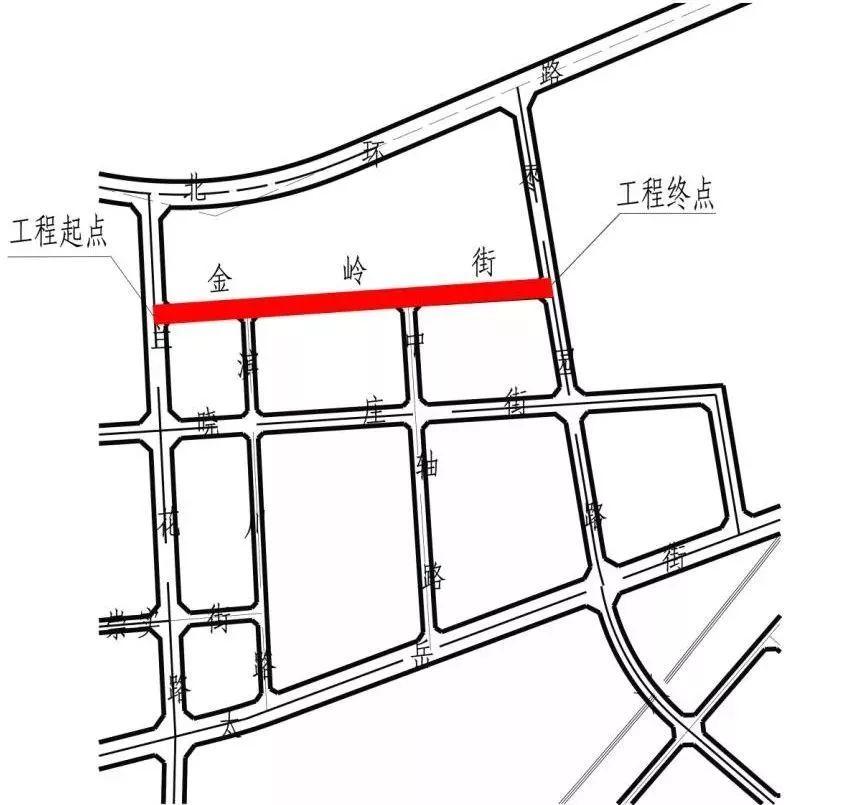 金岭街道路标准横断面图