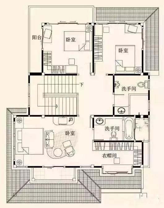 三套现代感十足的农村自建房户型图,哪个更适合你?图片