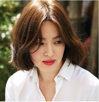 中分短发烫发韩范图片,全是韩国小姐姐大爱款图片