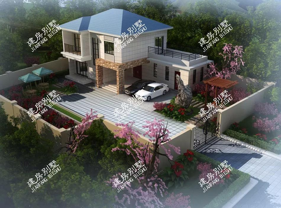 农村一层半房屋设计图带院子_农村一层半房屋设计