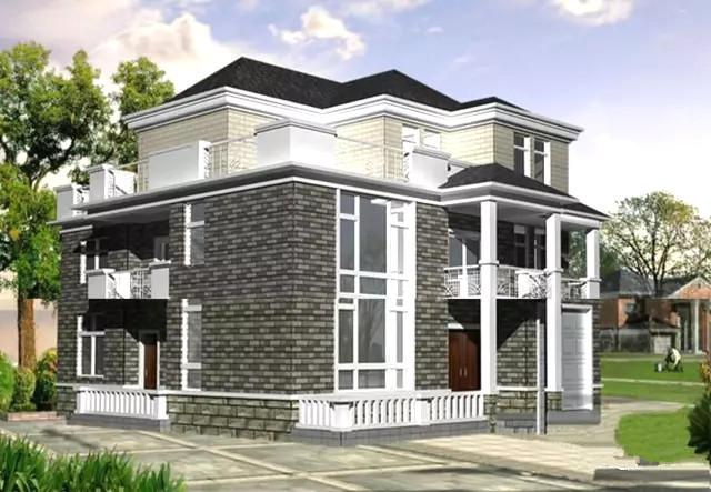13x15米3层欧式别墅,带花园露台,含全部施工图!