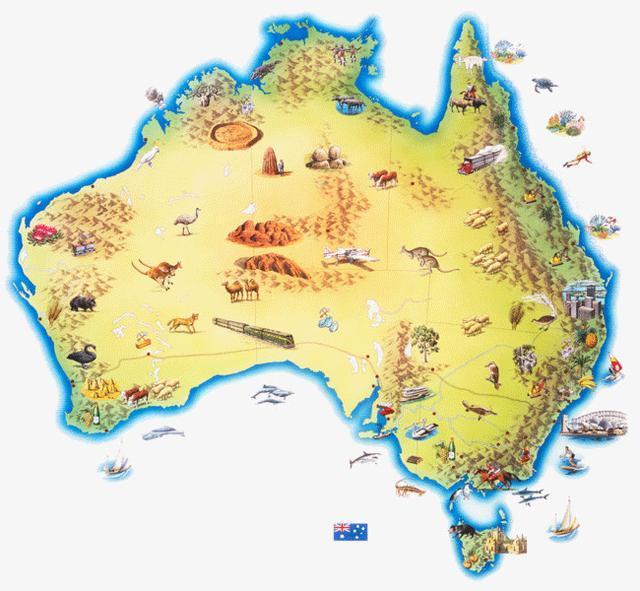 去澳大利亚旅行,带地图是必不可少的了.图片