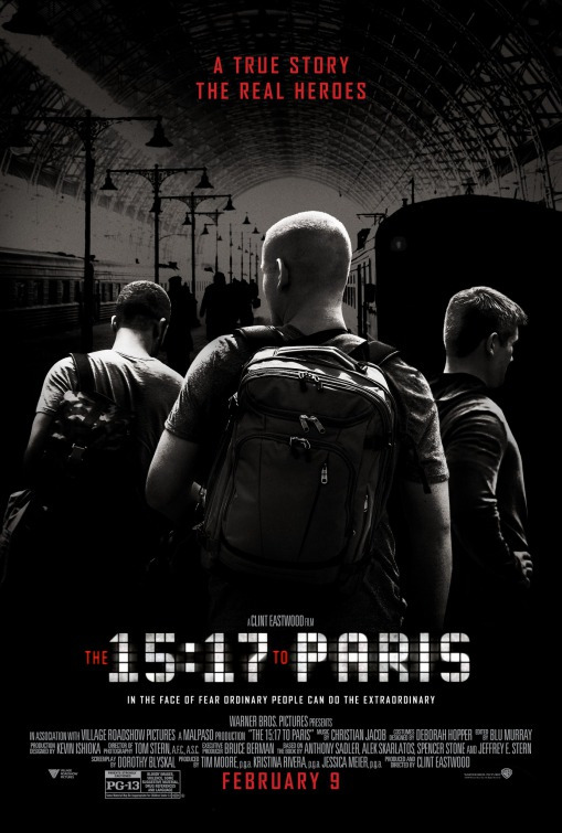 《15:17开往巴黎》首曝海报 平民英雄演绎反恐传奇