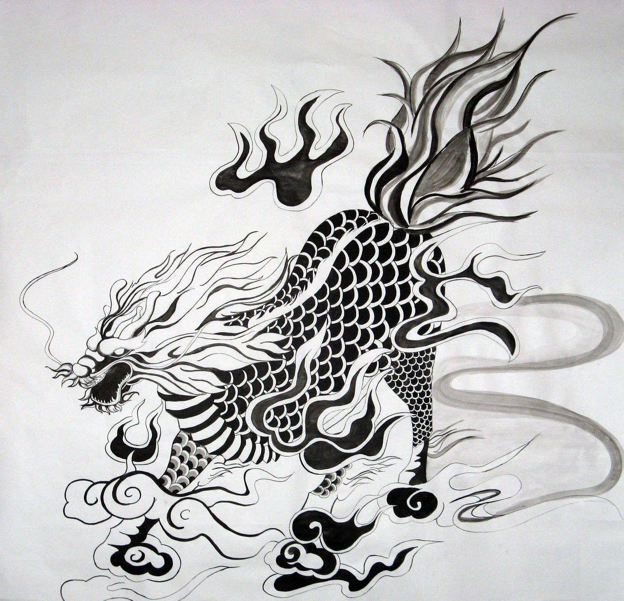 星影素材:上古神兽麒麟纹身,所到之处皆祥瑞.