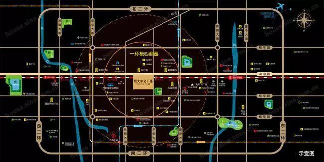安定门街道清朝平面图