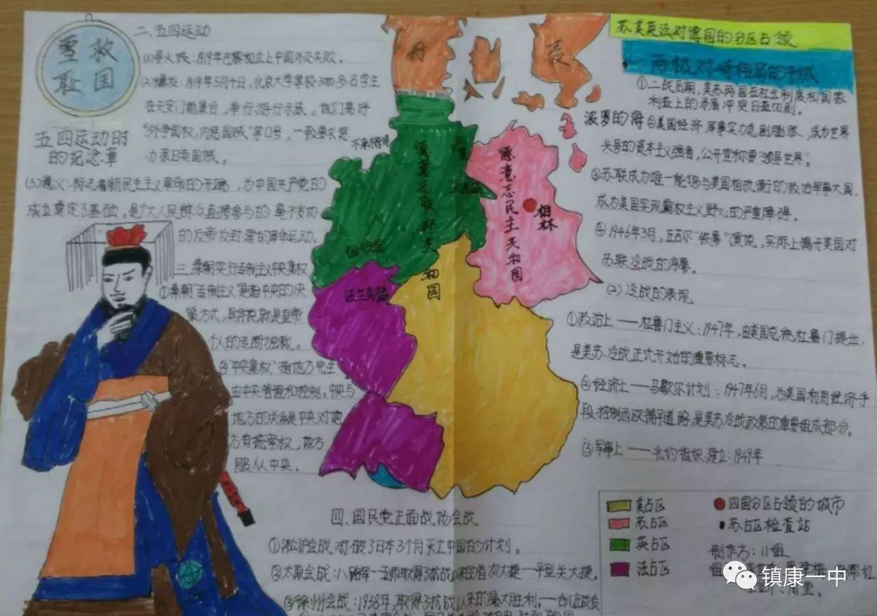 镇康县第一中学开展历史知识手抄报制作竞赛活动