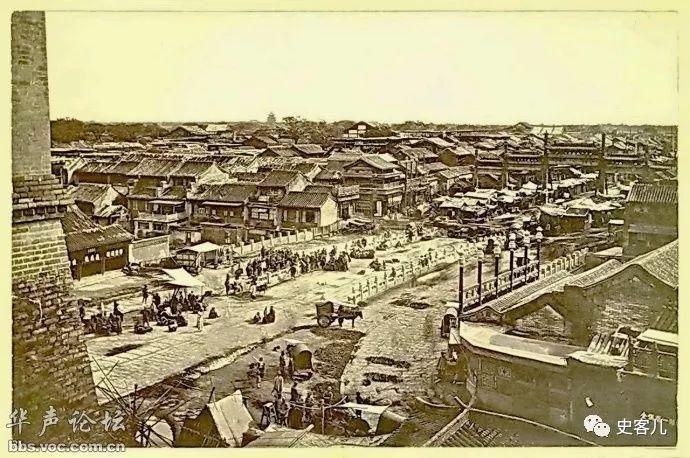 老北京正阳门的 四门三桥五牌楼