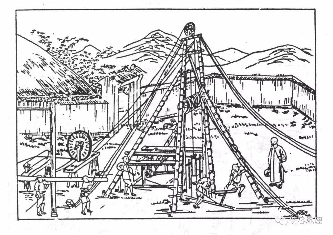 古代凿井流程:下木柱