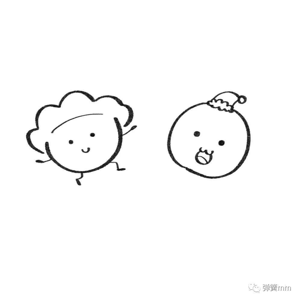 汤圆儿 饺子简笔画,一看就会