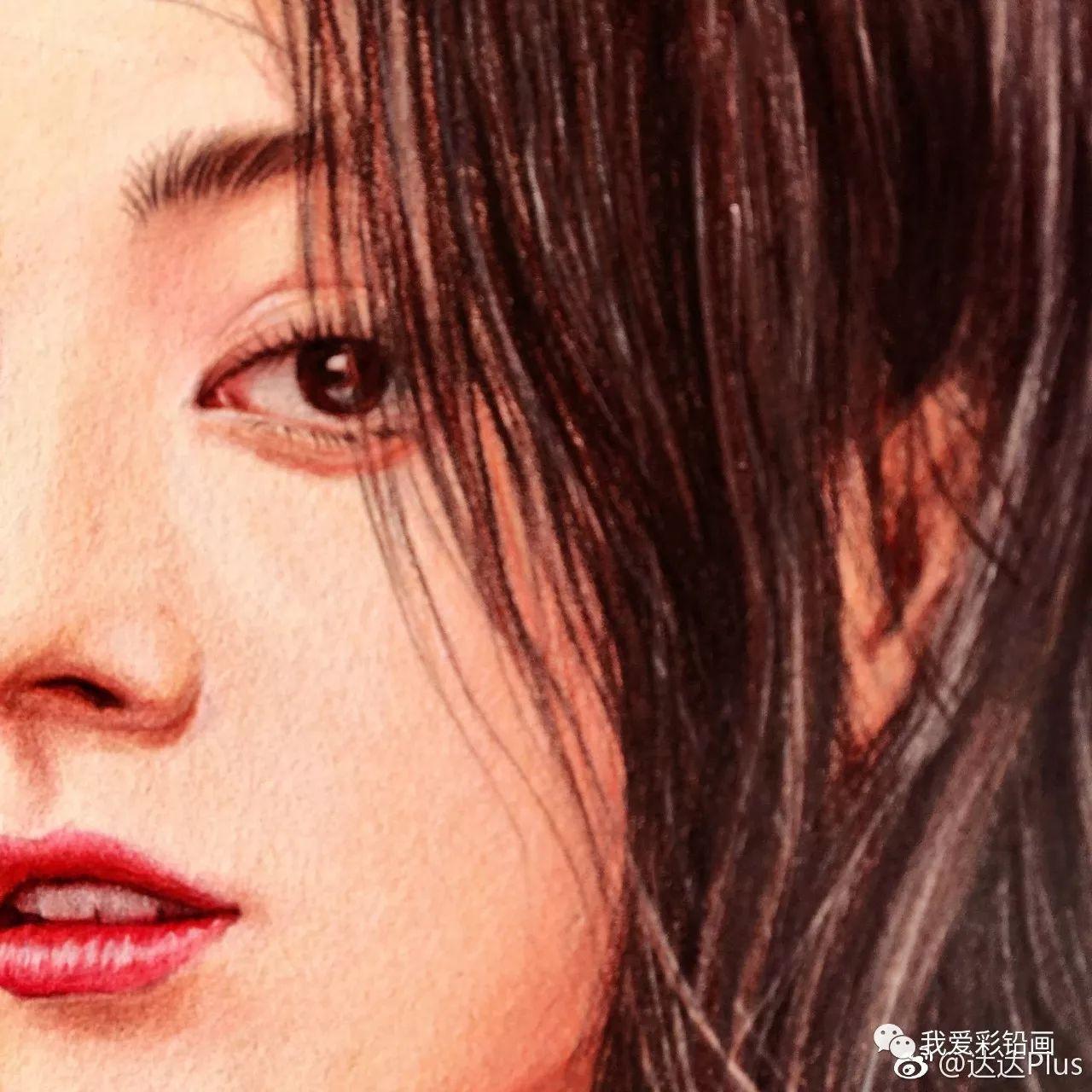 彩铅手绘--迪丽热巴的盛世美颜