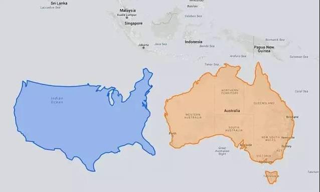 地图上把中国移到俄罗斯的位置,惊呆了!图片