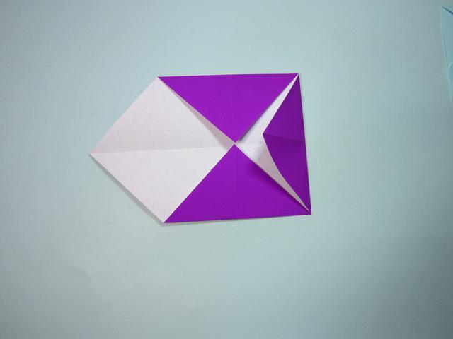 儿童手工折纸:简单的信封折纸步骤图解
