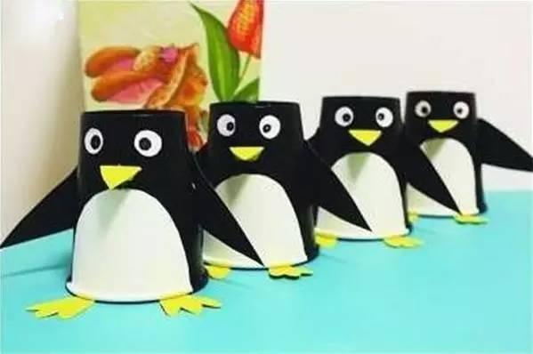 【企鹅手工】6种不同材料制作的小企鹅,只要两分钟就可以学会啦