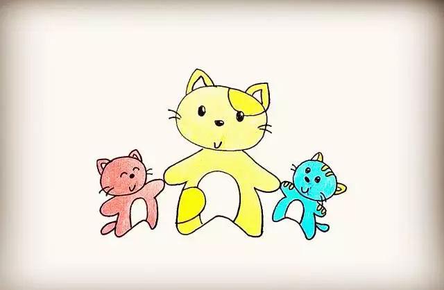 师讯网推荐:幼儿园简笔画教程—蘑菇房 猫咪一家,孩子