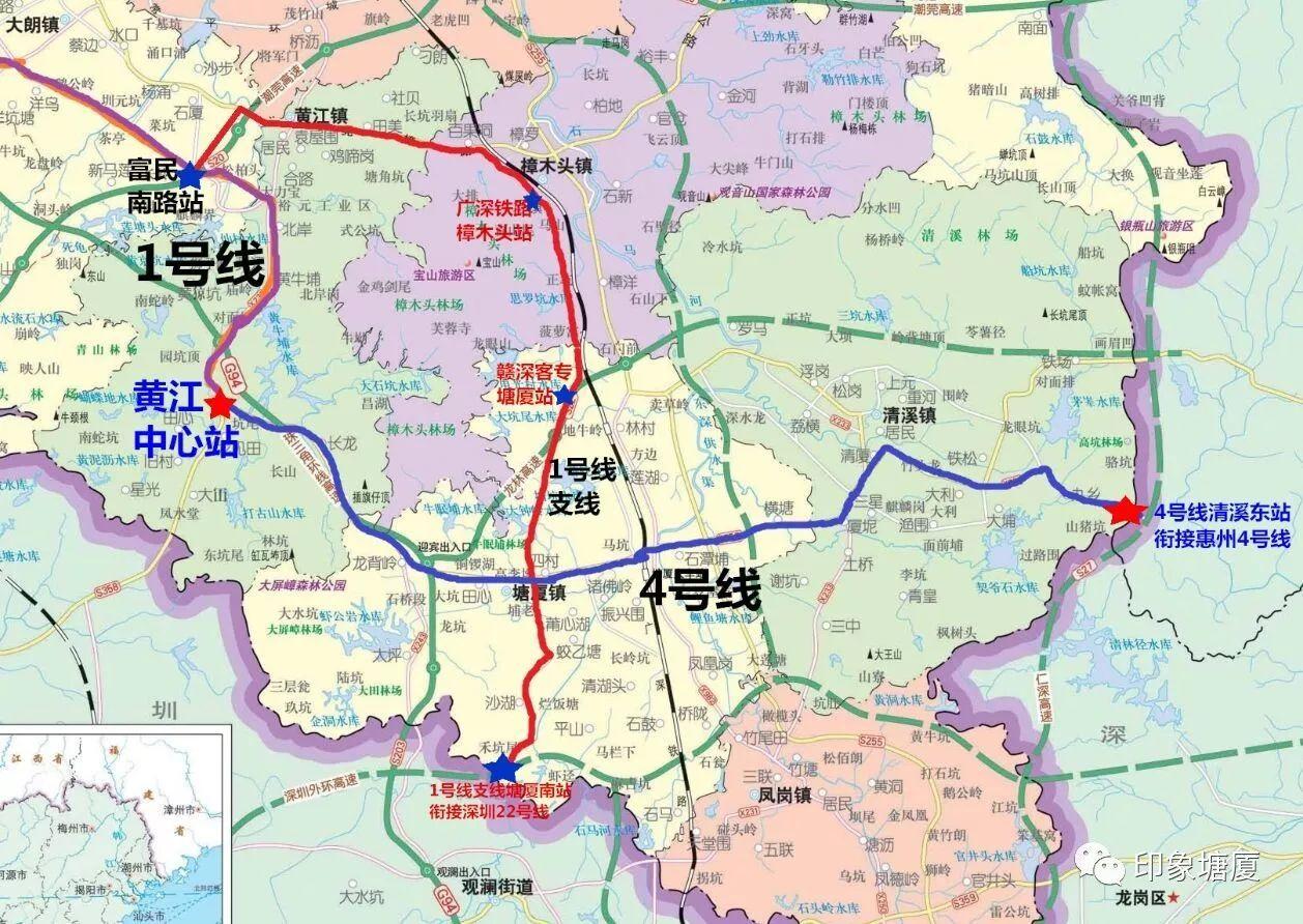 【重磅】南通深圳,东接惠州,地铁塘厦段最新规划曝光!(附线路示意图)