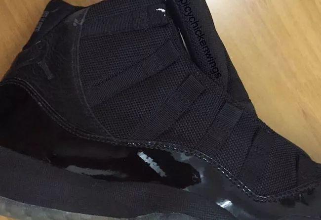 """耐克2018 款 Air Jordan 11 """"Blackout""""明年 5 月! 再曝 Sample 谍照!"""