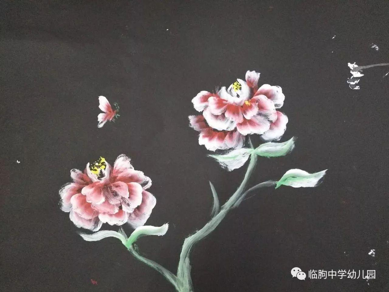 临朐中学幼儿园排笔画培训活动