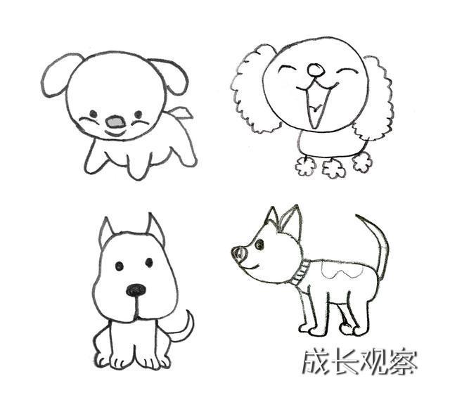 汪汪队 遇狗年,我们一起给你和孩子呈上各种狗狗简笔画