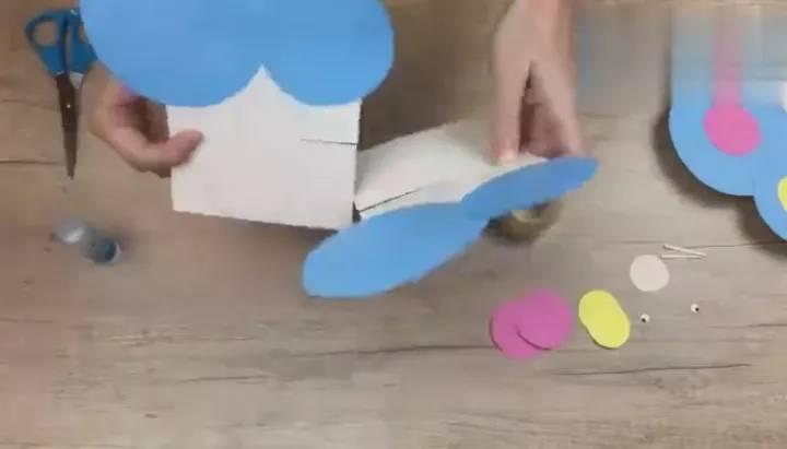 儿童创意手工制作,小小飞行员