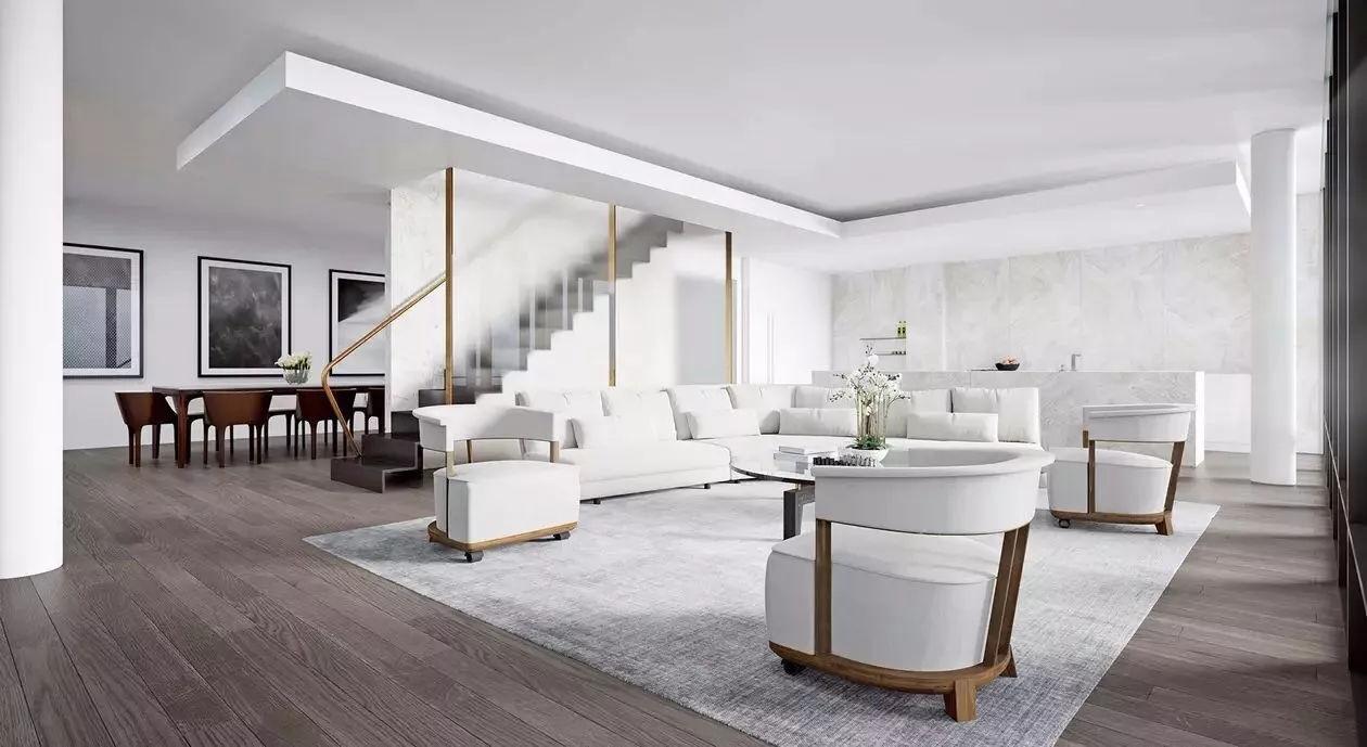 许多极简卧式的设计,无论是家具,容器,空间,几乎全部采用90°墙面条直线地面设计图片
