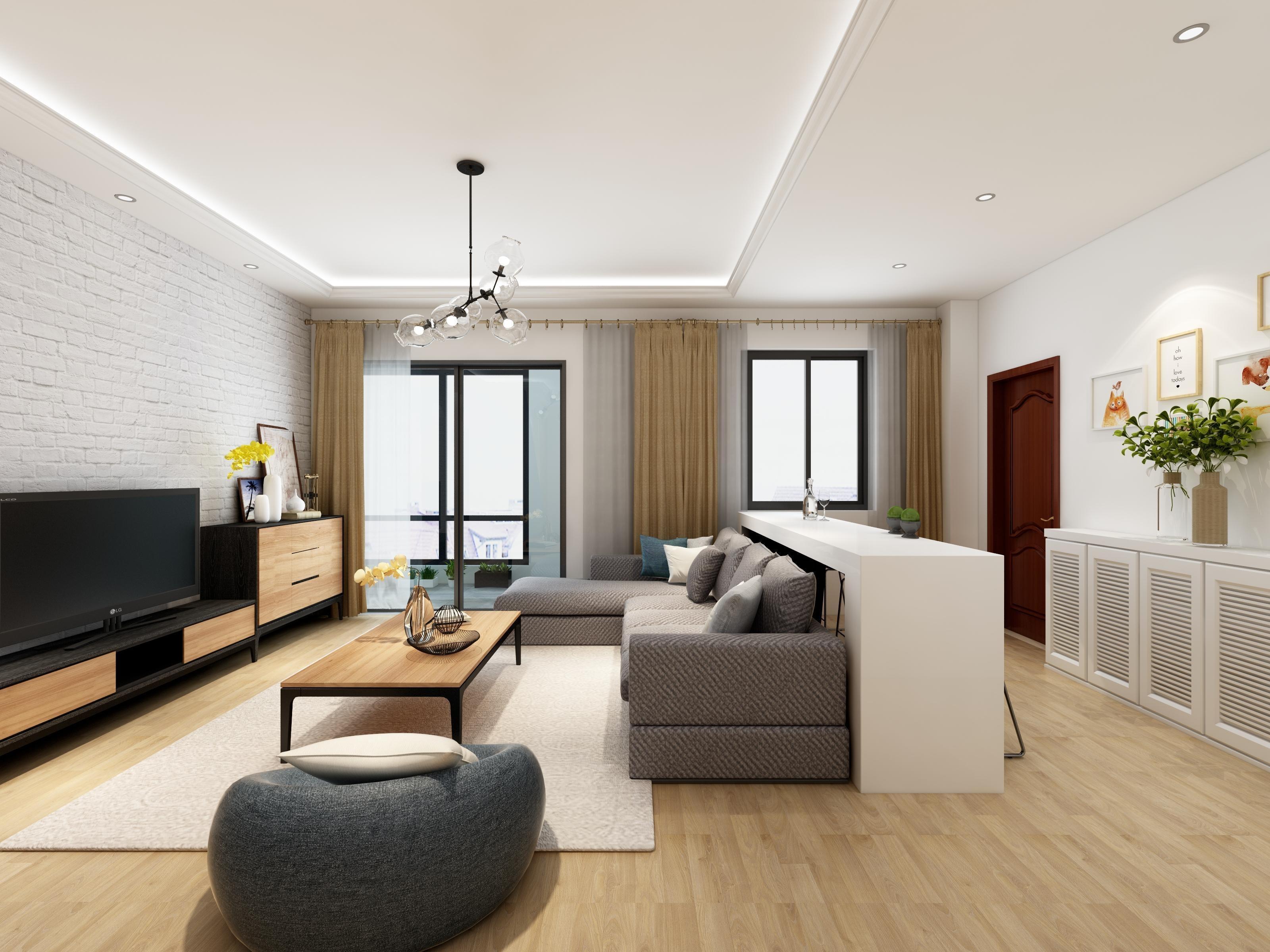 崇尚简单自然,两室一厅现代简约风,不可复制的大气之美!