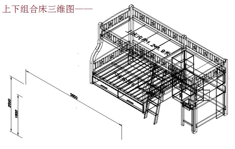 各类床的cad设计图纸,本素材为实木家具床加工cad设计图纸,图纸包含