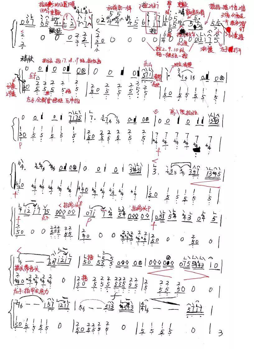 古筝笔记《西域随想》一首艺考必备曲目优选