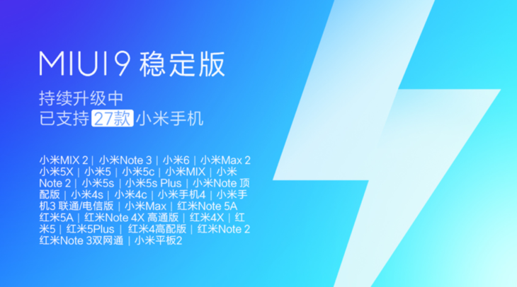 MIUI9稳定版第三批机型推送 27款小米手机已可以升级的照片