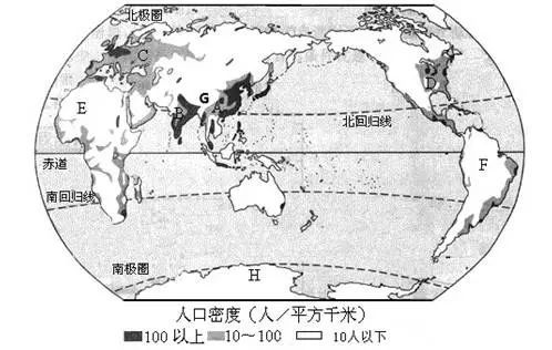 世界人口分布因素自然_世界人口分布(2)