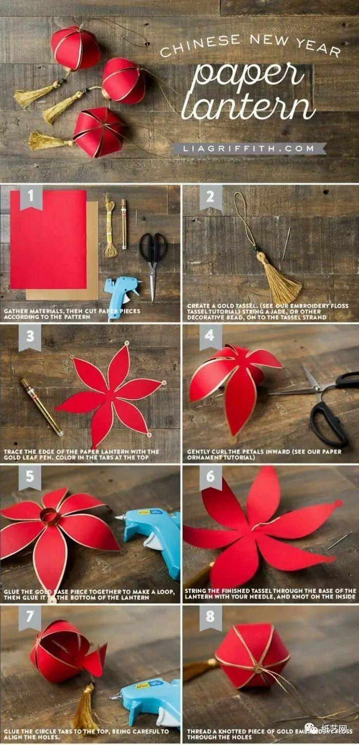 2,超级简单的彩纸灯笼