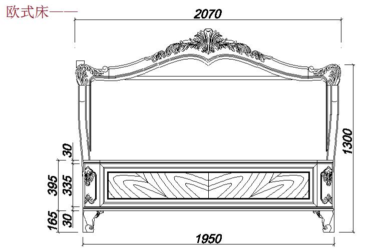 各类床的cad设计图纸,本素材为实木家具床加工cad设计图纸,图纸包含单