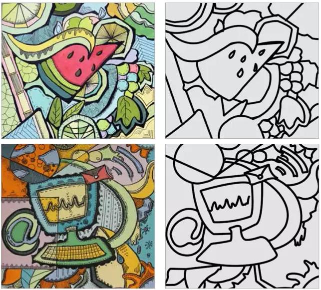 四川美术学院,鲁迅美术学院校考设计之色彩装饰画步骤图片