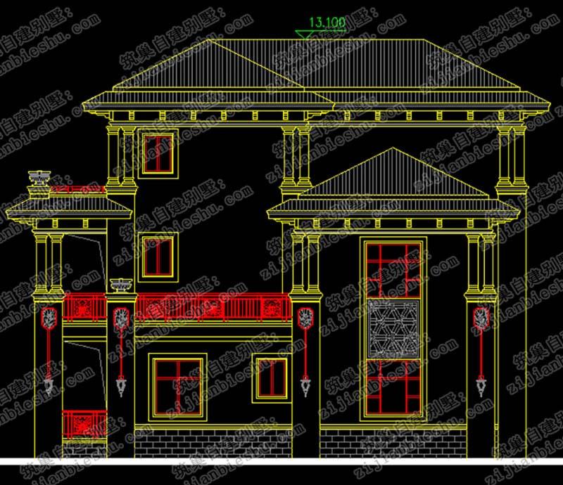 2018新款三层占地面积约220㎡别墅设计图纸