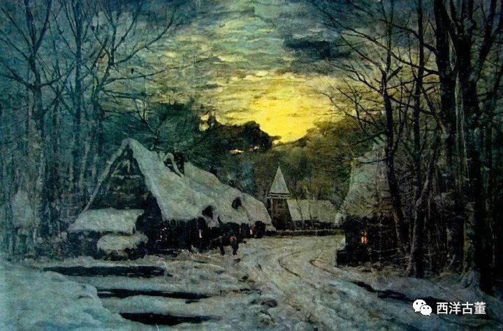 19世纪法国农村风景画