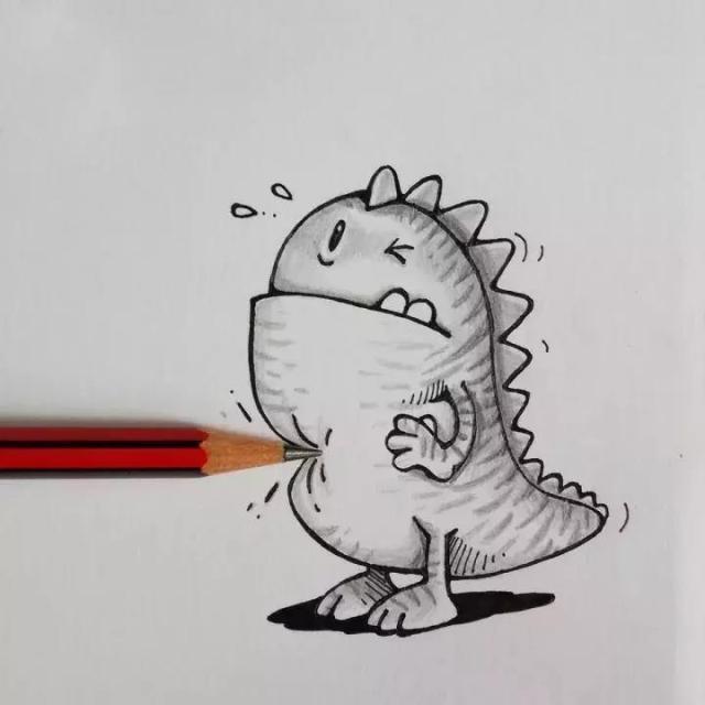 萌萌哒小怪兽 涂鸦与生活物品的趣味互动